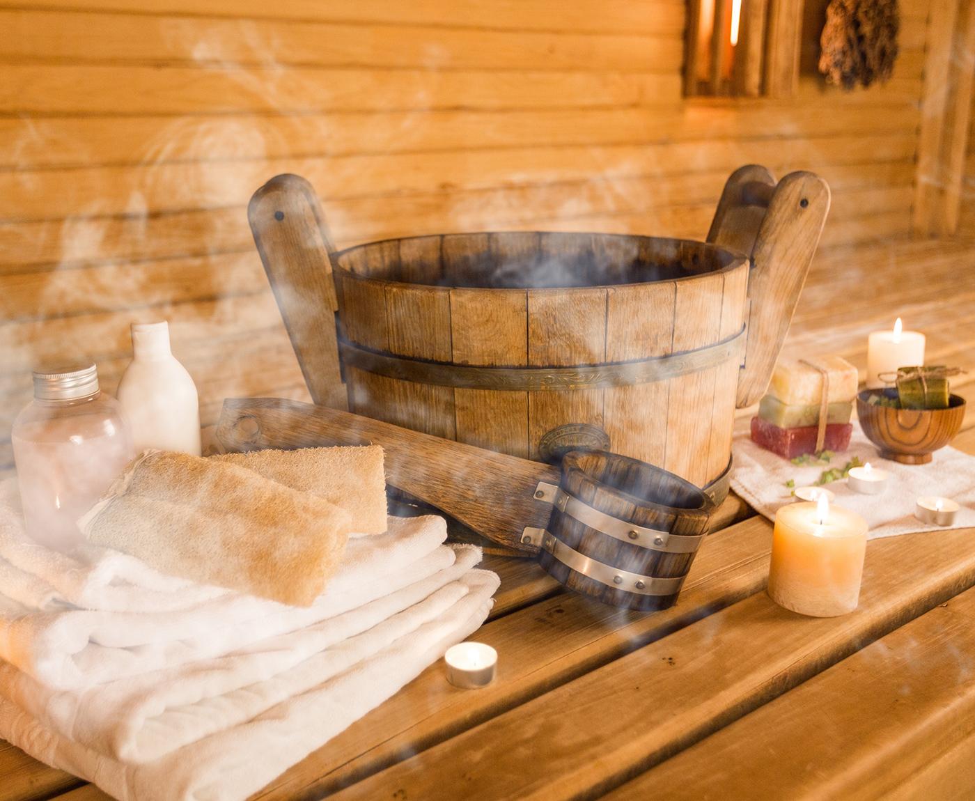 Sauna Utensilien
